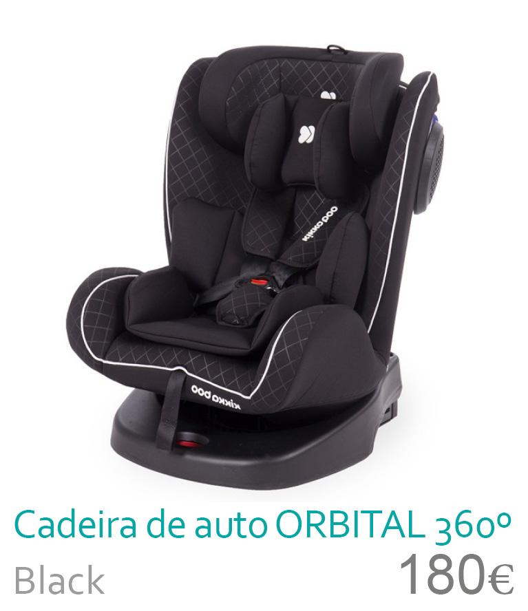 Cadeira de auto grupo 0/1/2/3 ORBITAL 360 Black