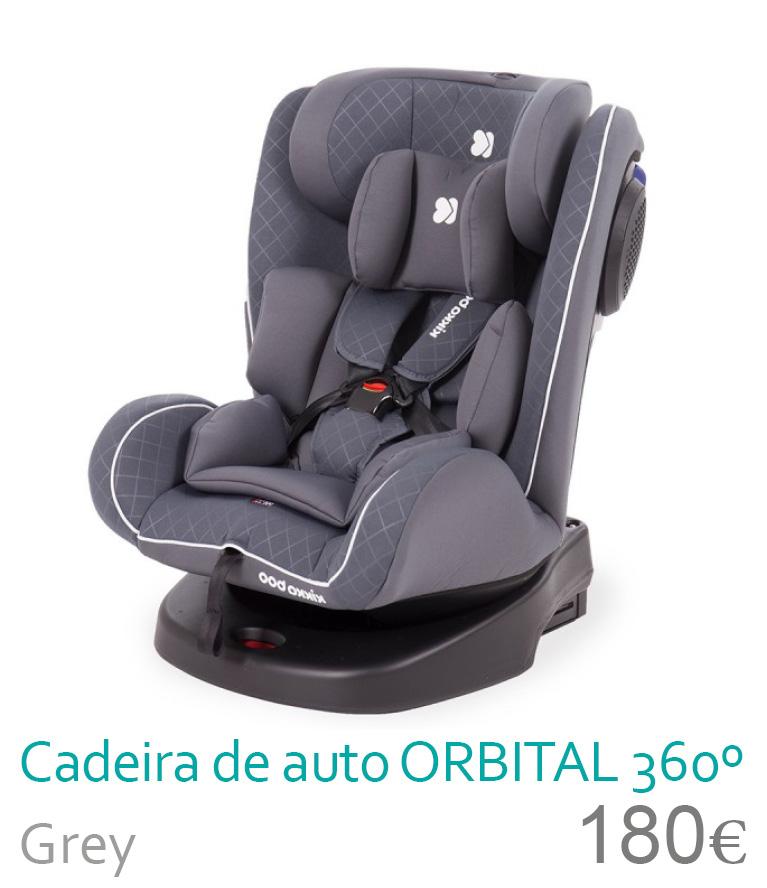 Cadeira de auto grupo 0/1/2/3 ORBITAL 360 Grey