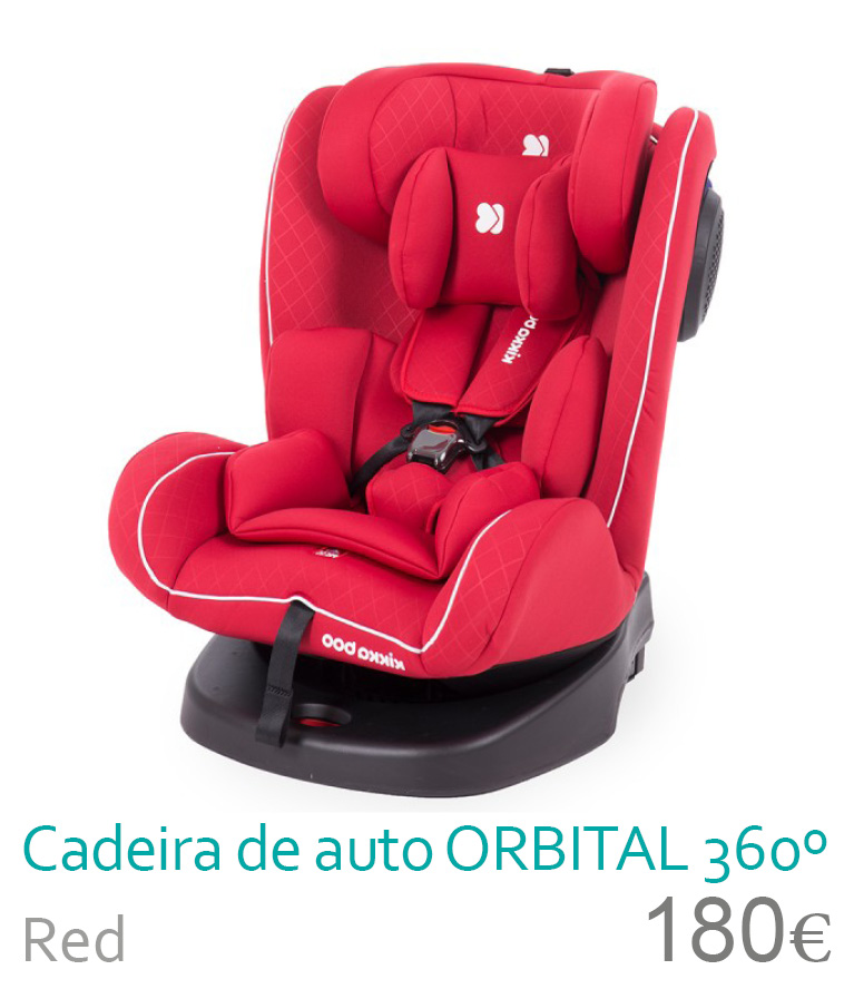 Cadeira de auto grupo 0/1/2/3 ORBITAL 360 Red