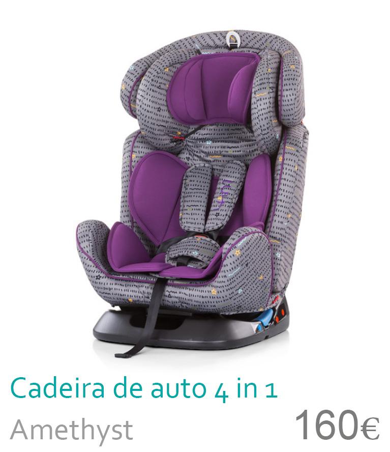 Cadeira de auto grupo 0+/1/2/3 4 in 1 Amethyst