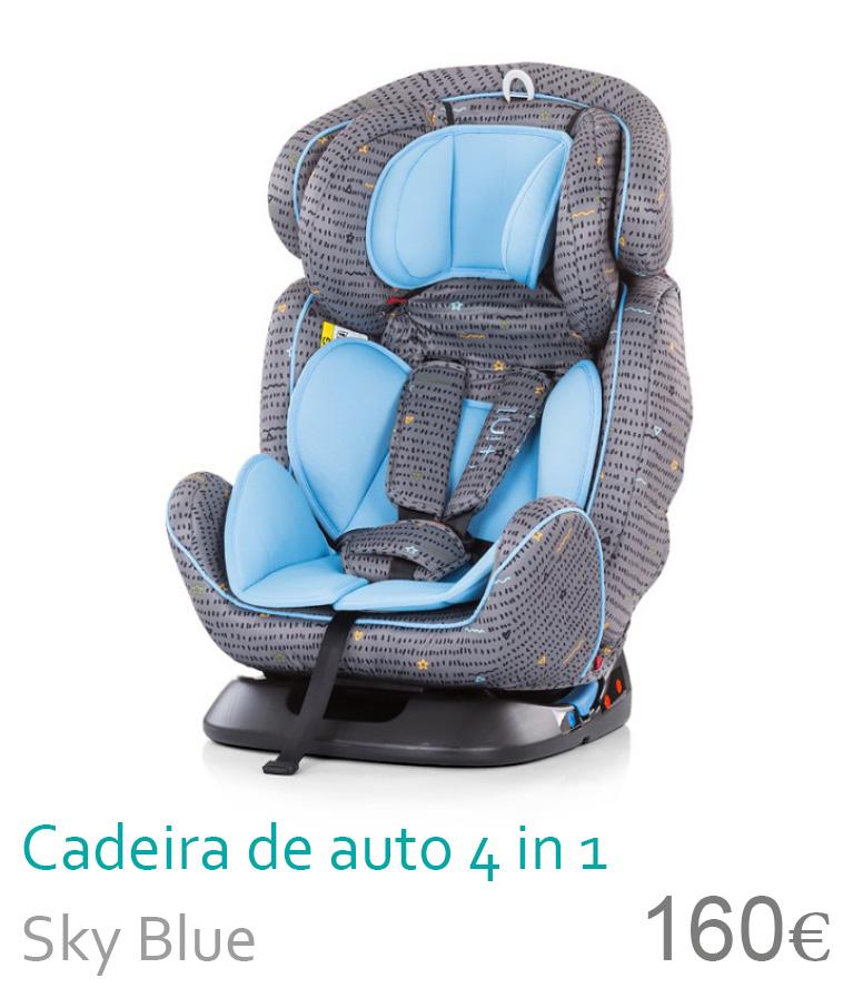 Cadeira de auto grupo 0+/1/2/3 4 in 1 Sky Blue