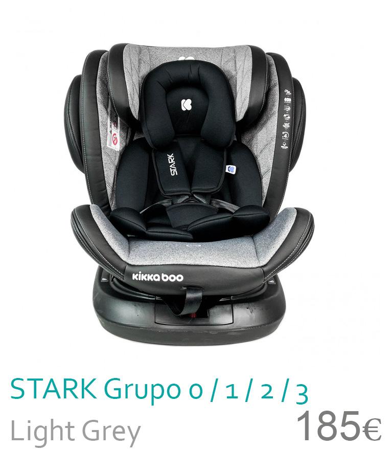 Cadeira de carro grupo 0/1/2/3 STARK Light Grey