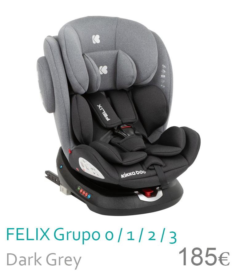 Cadeira de carro grupo 0/1/2/3 FELIX Dark Grey