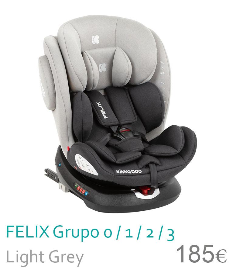 Cadeira de carro grupo 0/1/2/3 Light Grey