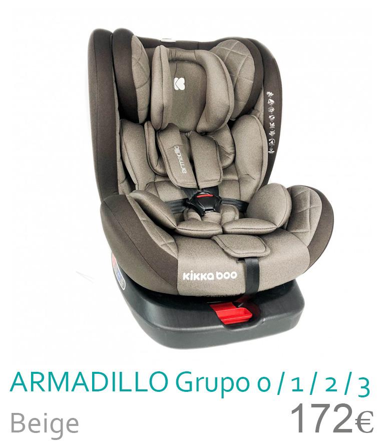 Cadeira de carro grupo 0/1/2/3 ARMADILLO Beige