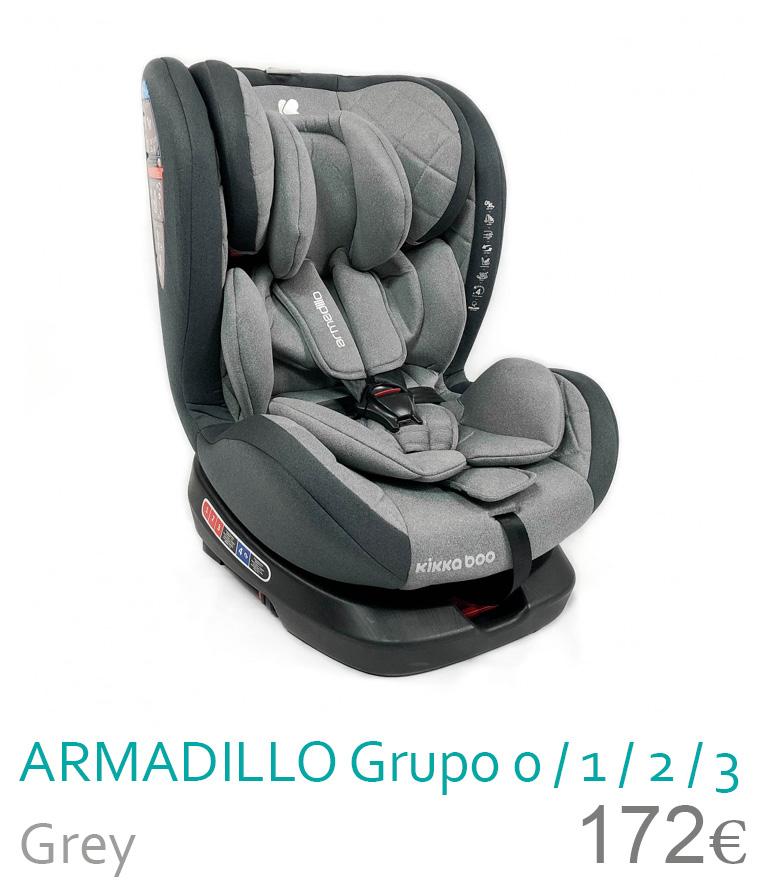 Cadeira de carro grupo 0/1/2/3 ARMADILLO Grey