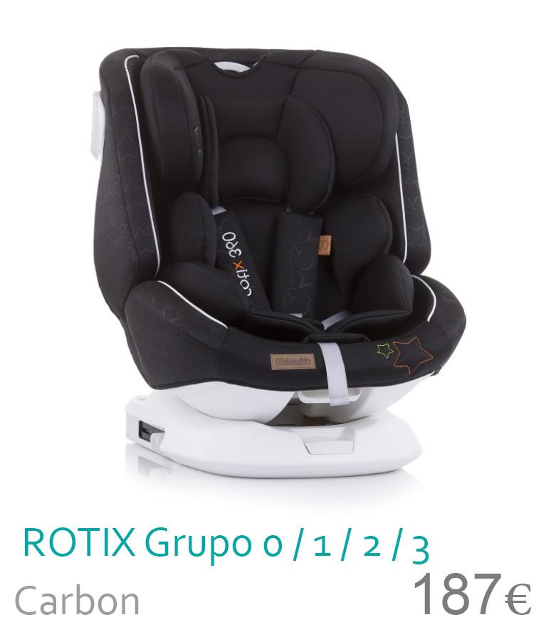 Cadeira de carro grupo 0/1/2/3 ROTIX Carbon