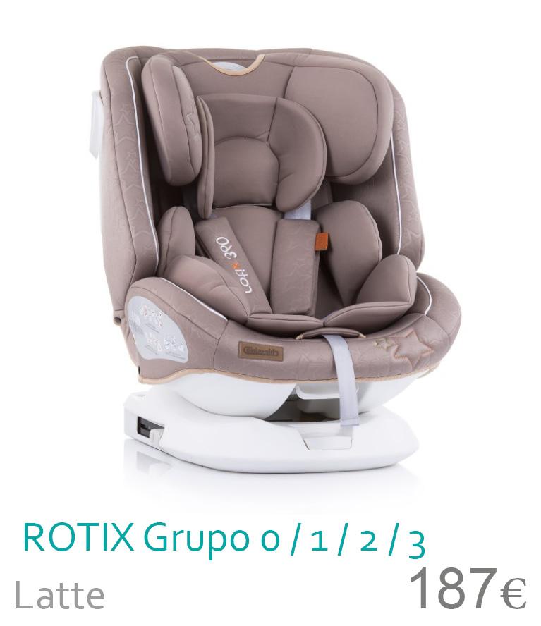 Cadeira de carro grupo 0/1/2/3 ROTIX Beige