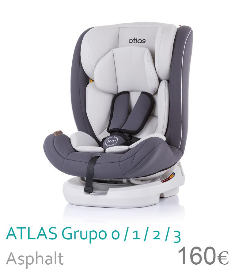 Cadeira de carro grupo 0/1/2/3 ATLAS Asphalt