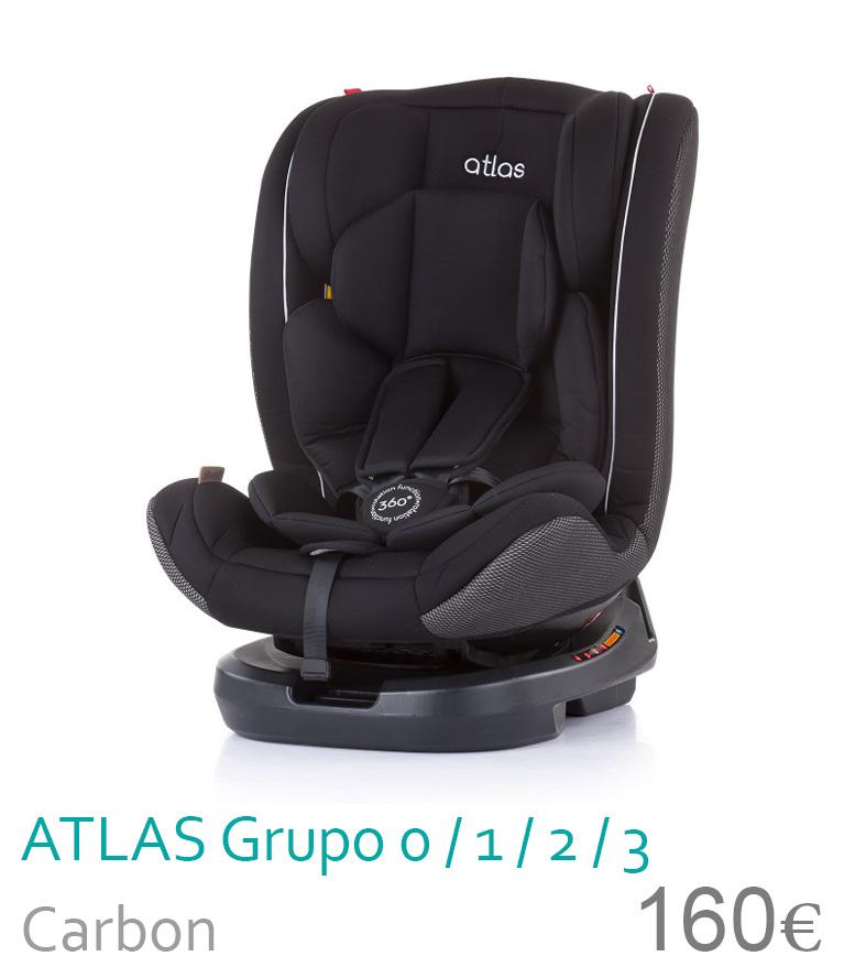 Cadeira de carro grupo 0/1/2/3 ATLAS Carbon
