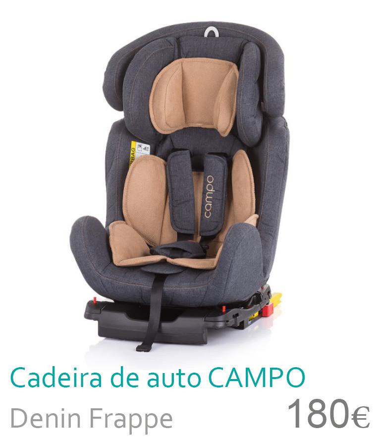 Cadeira de auto grupo 0+/1/2/3 CAMPO Denin Frappe