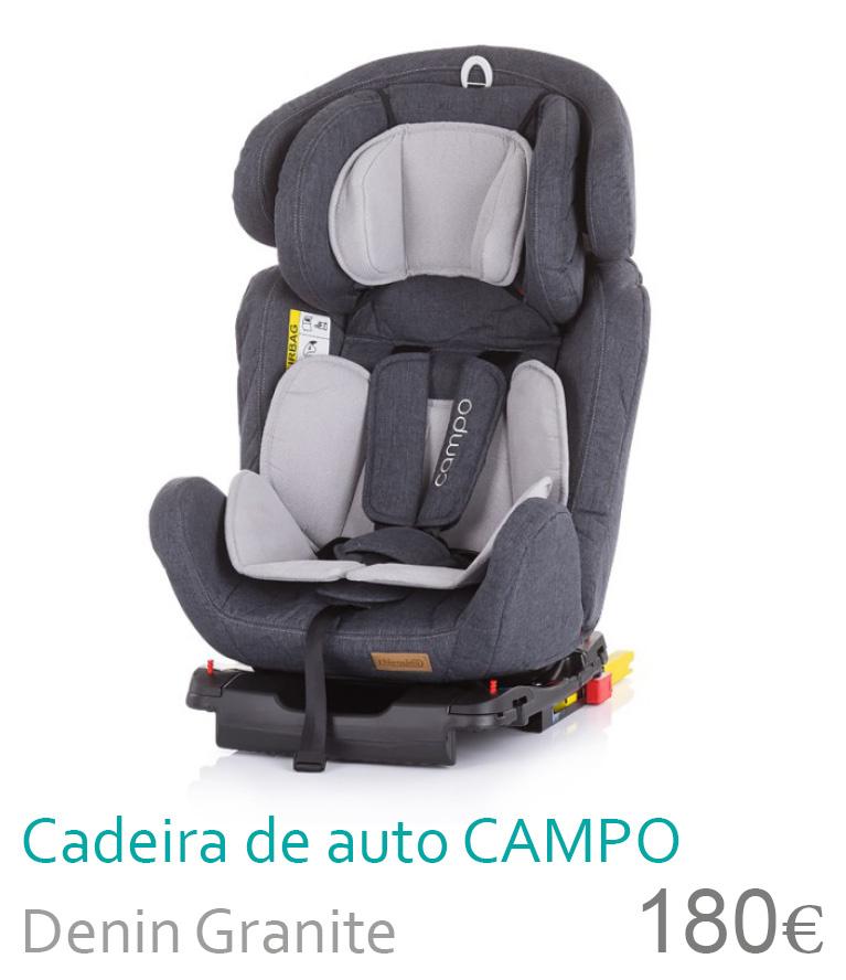 Cadeira de auto grupo 0+/1/2/3 CAMPO Denin Granite