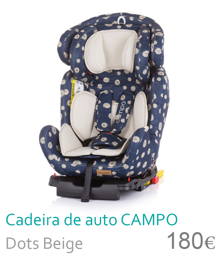Cadeira de auto grupo 0+/1/2/3 CAMPO Dots Beige