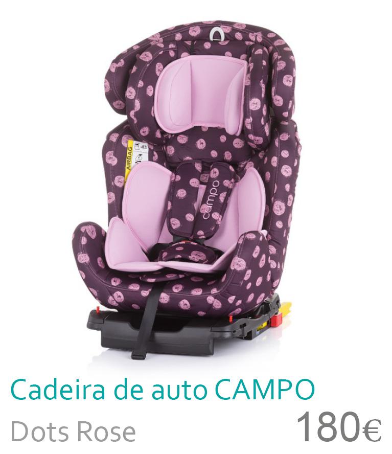 Cadeira de auto grupo 0+/1/2/3 Dots Rose