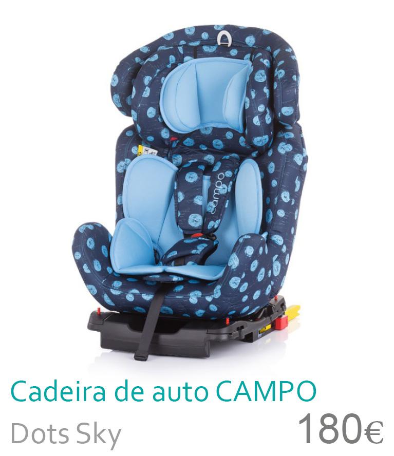 Cadeira de auto grupo 0+/1/2/3 CAMPO Dots Sky