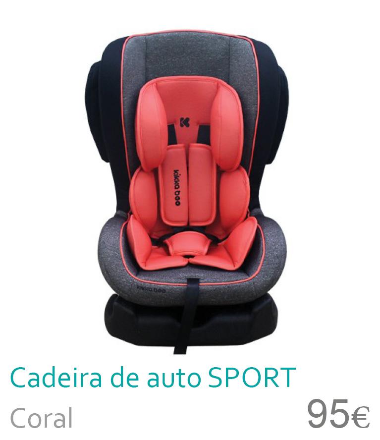 Cadeira de auto grupo 0+/1 Sport Coral