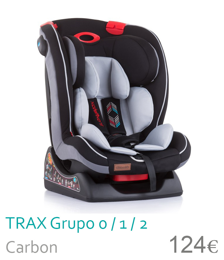 Cadeira de carro grupo 0/1/2 Carbon