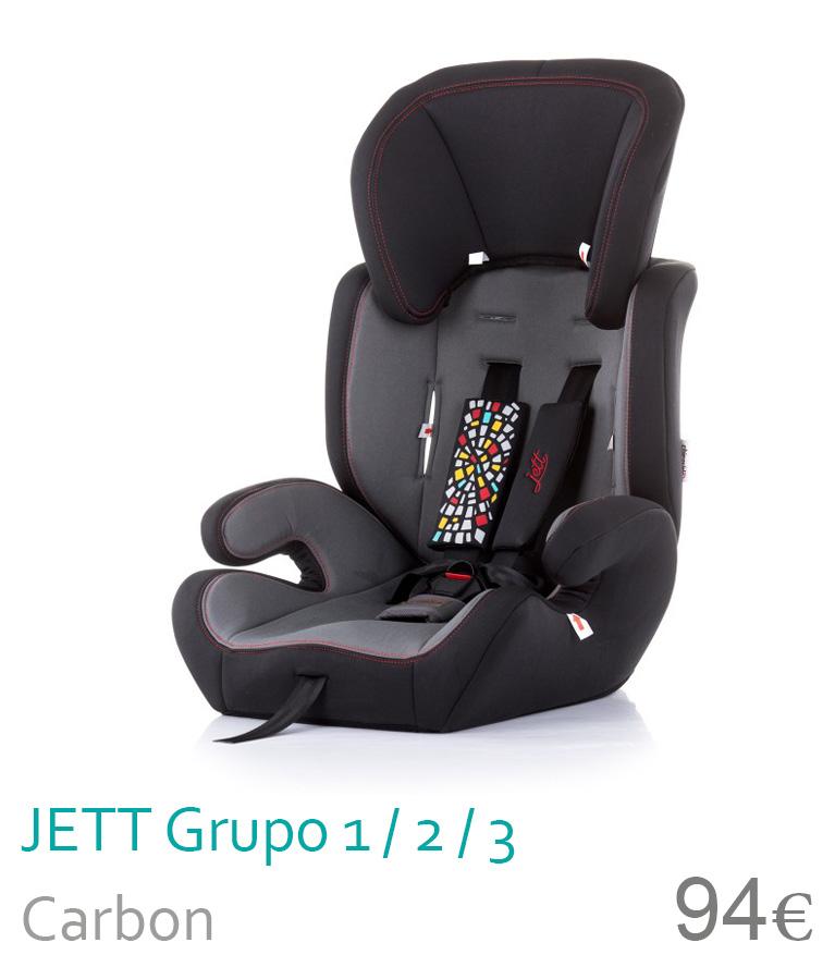Cadeira de carro grupo 1/2/3 JETT Carbon