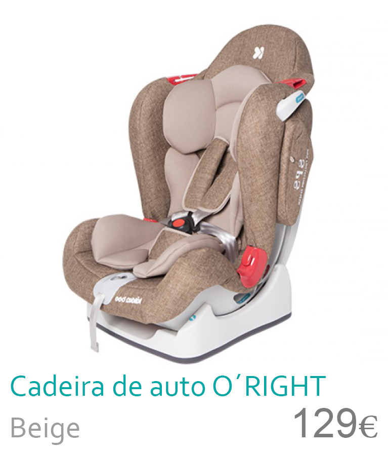 Cadeira de carro grupo 0+/1/2 Beige