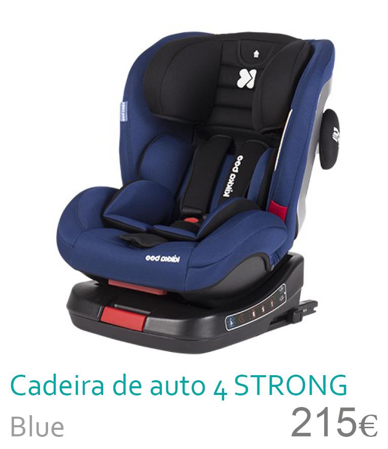 Cadeira de auto grupo 0+/1/2/3 STRONG Grey