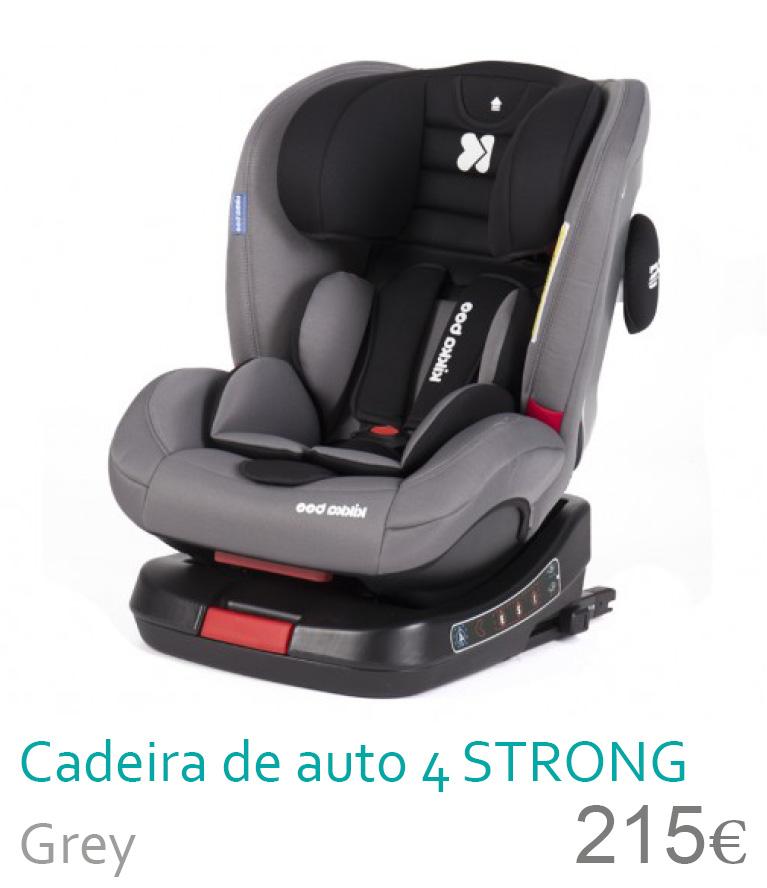 Cadeira de auto grupo 0+/1/2/3 4 STRONG Grey