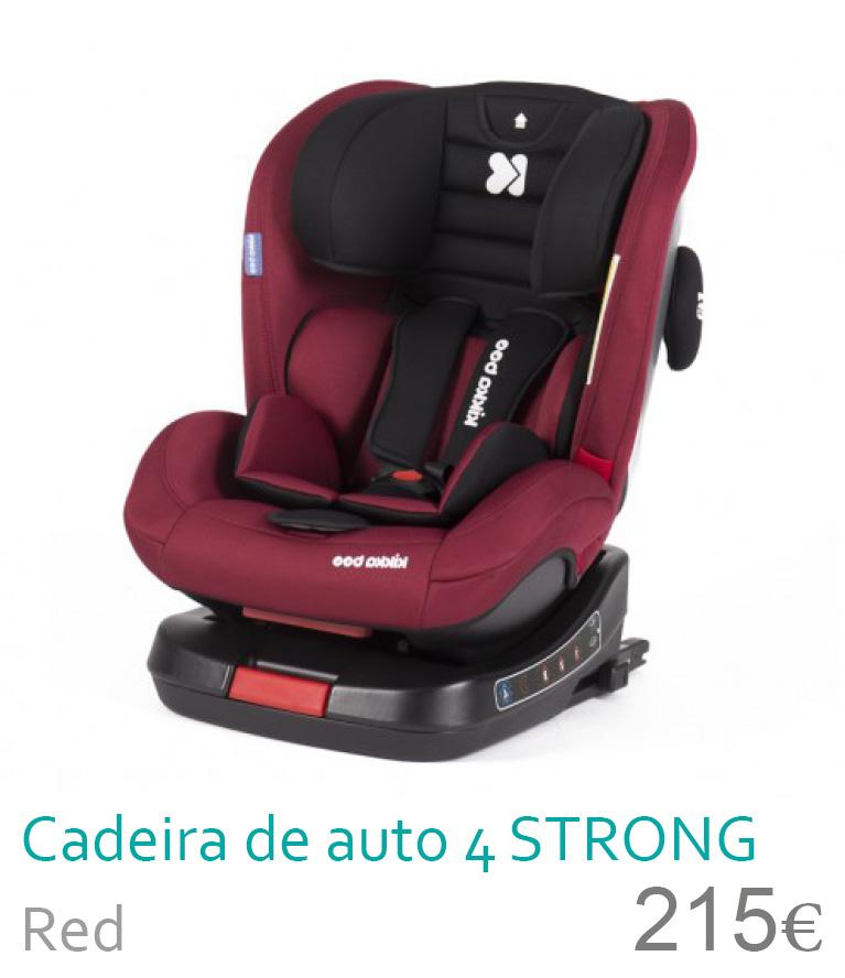 Cadeira de auto grupo 0+/1/2/3 4 STRONG Red