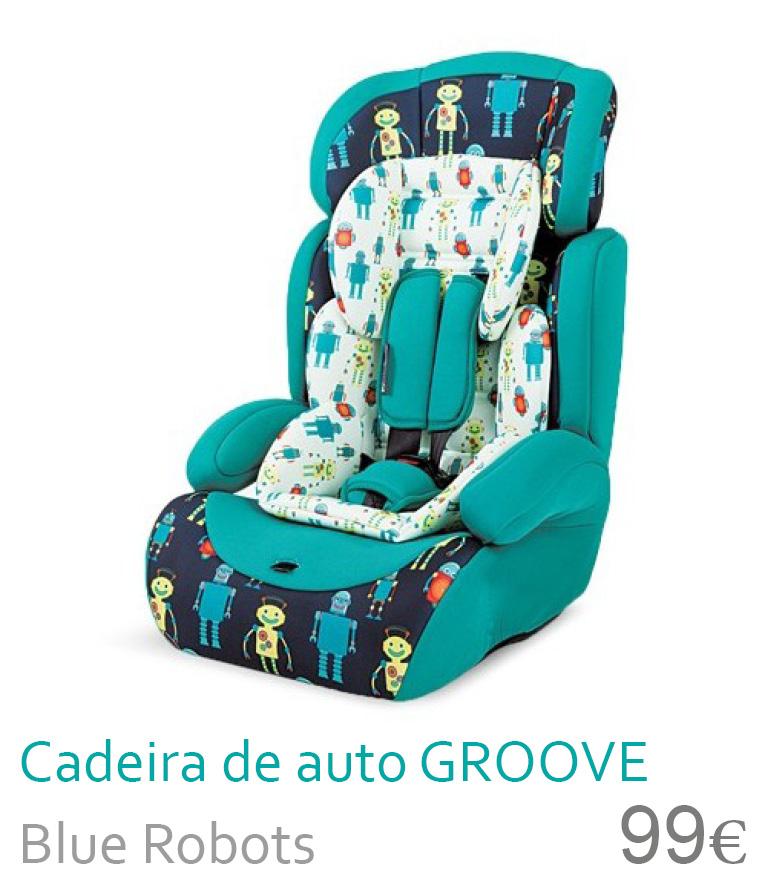 Cadeira de auto Groove Blue robots