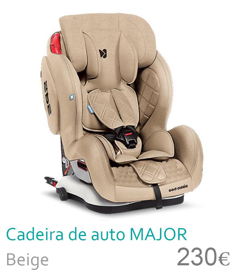 Cadeira de auto Major Beige 1/2/3