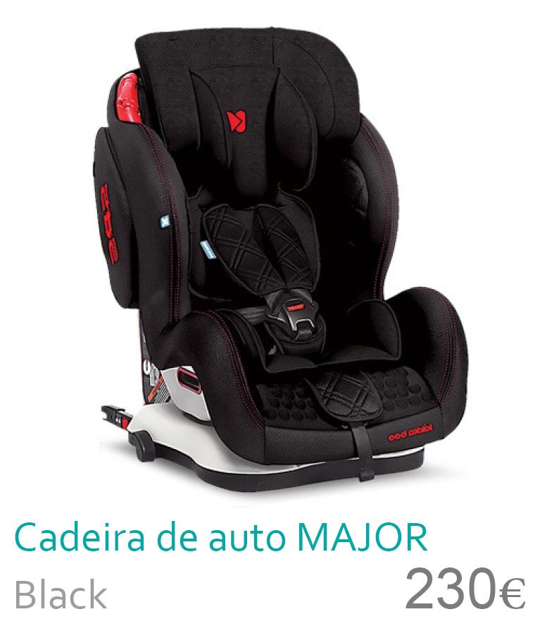 Cadeira de auto Major black 1/2/3
