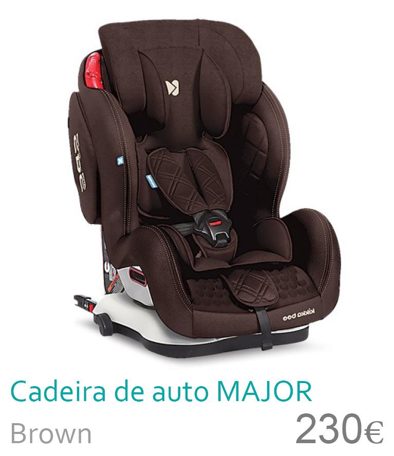 Cadeira de auto Major Brown 1/2/3