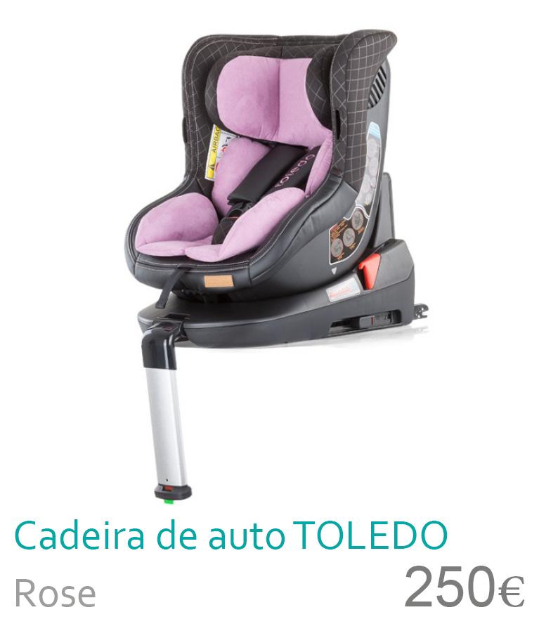 Cadeira de auto grupo 0+/1 TOLEDO Rose