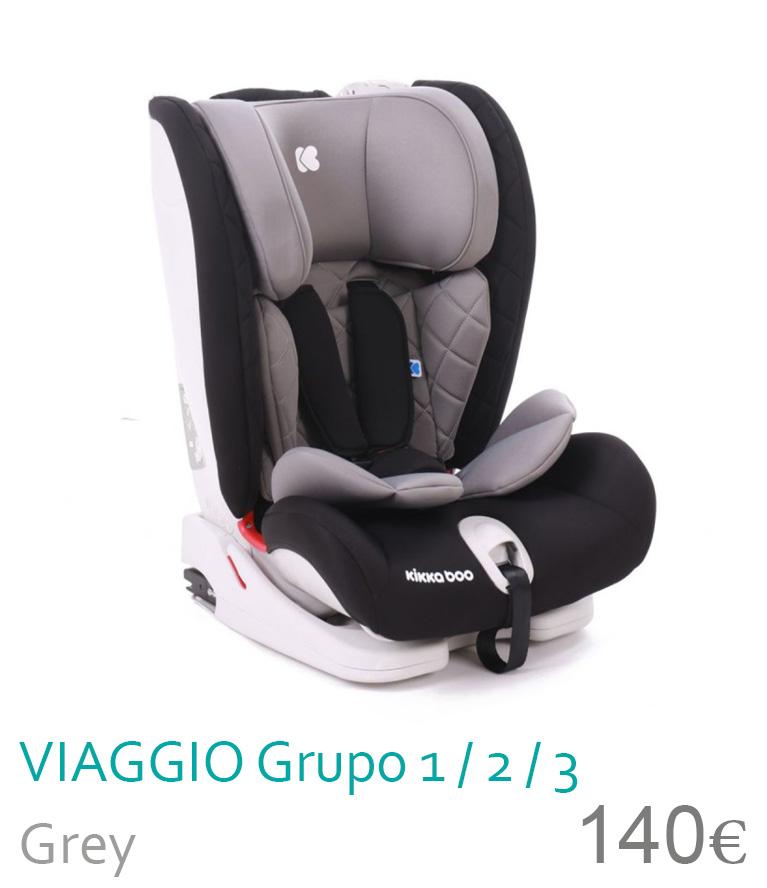 Cadeira de carro grupo 1/2/3 VIAGGIO Grey