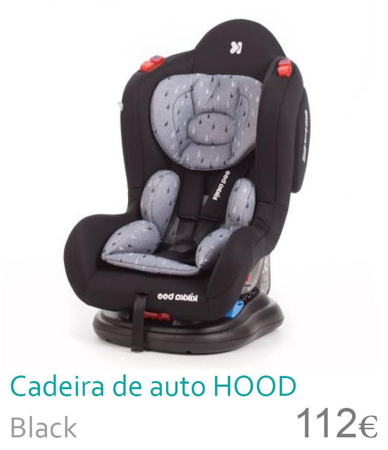 Cadeira de auto grupo 0+/1/2 HOOB Black