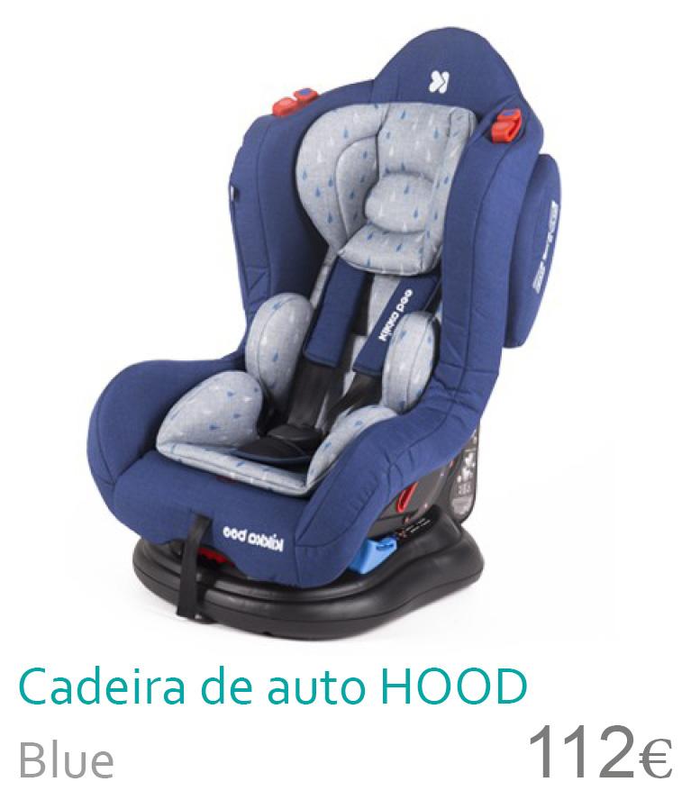 Cadeira de auto grupo 0+/1/2 HOOD Blue