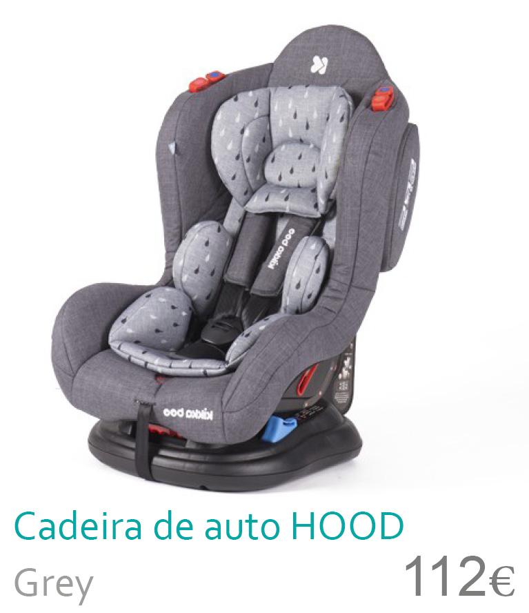 Cadeira de auto grupo 0+/1/2 HOOD Grey