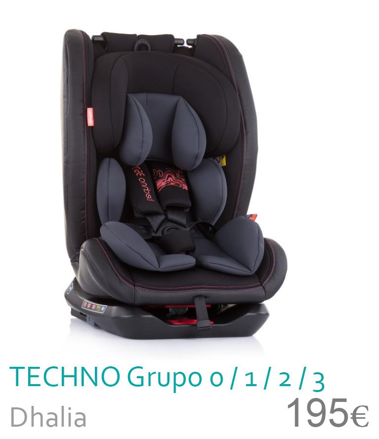 Cadeira de carro grupo 0/1/2/3 TECNHO Dhalia