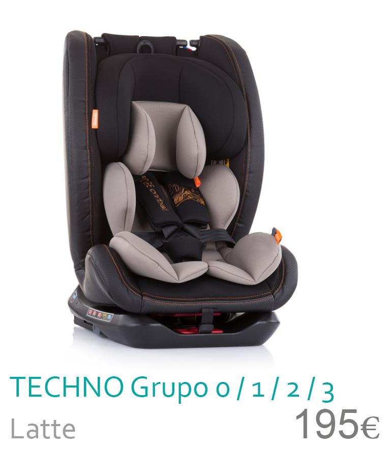Cadeira de auto grupo 0/1/2/3 TECHNO Latte