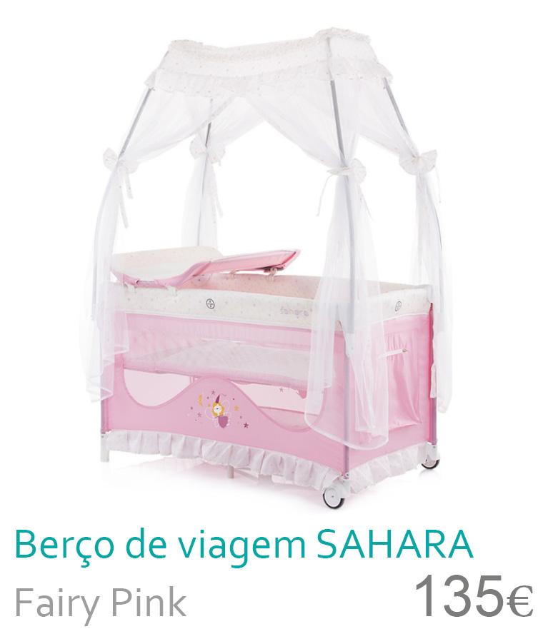 Berço de viagem SAHARA Fairy Pink