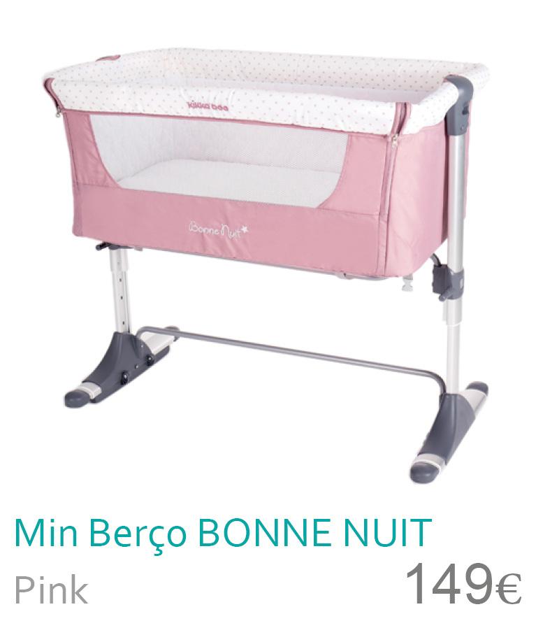 Mini berço colecho bonne nuit pink