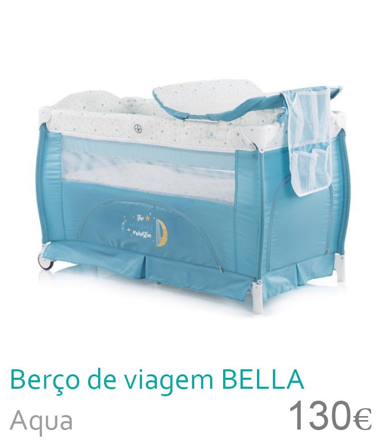 Berço de viagem BELLA Aqua