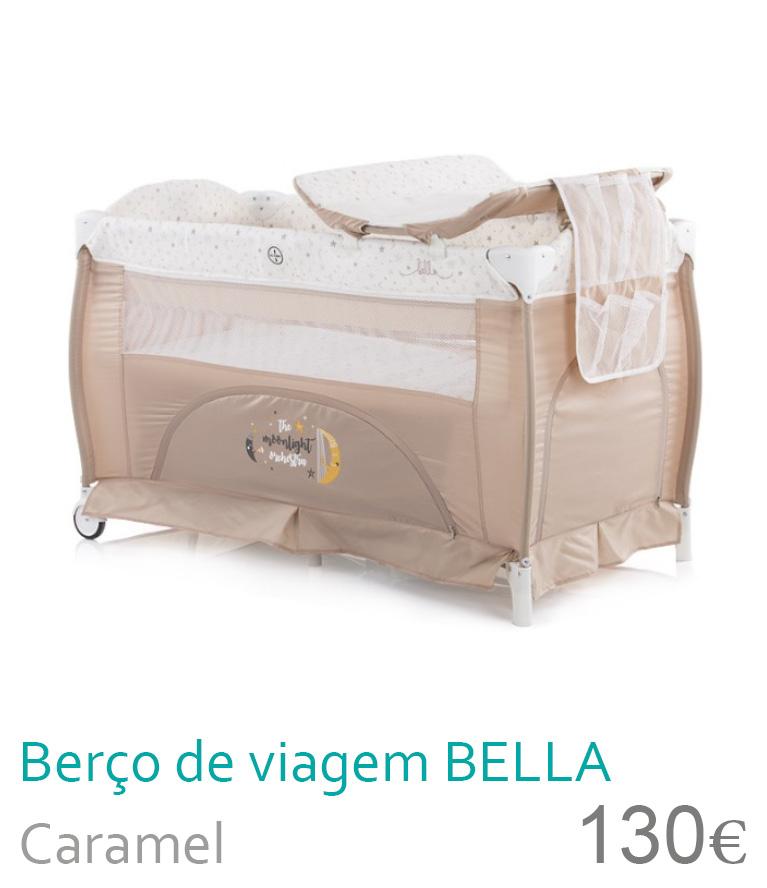 Berço de viagem BELLA Caramel