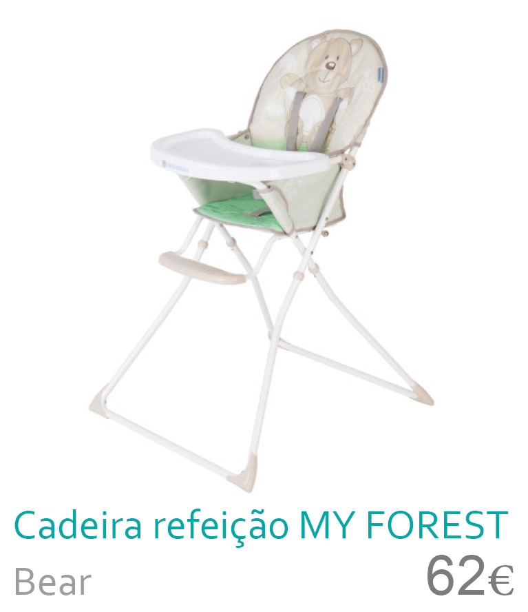 cadeira de refeição my forest bear