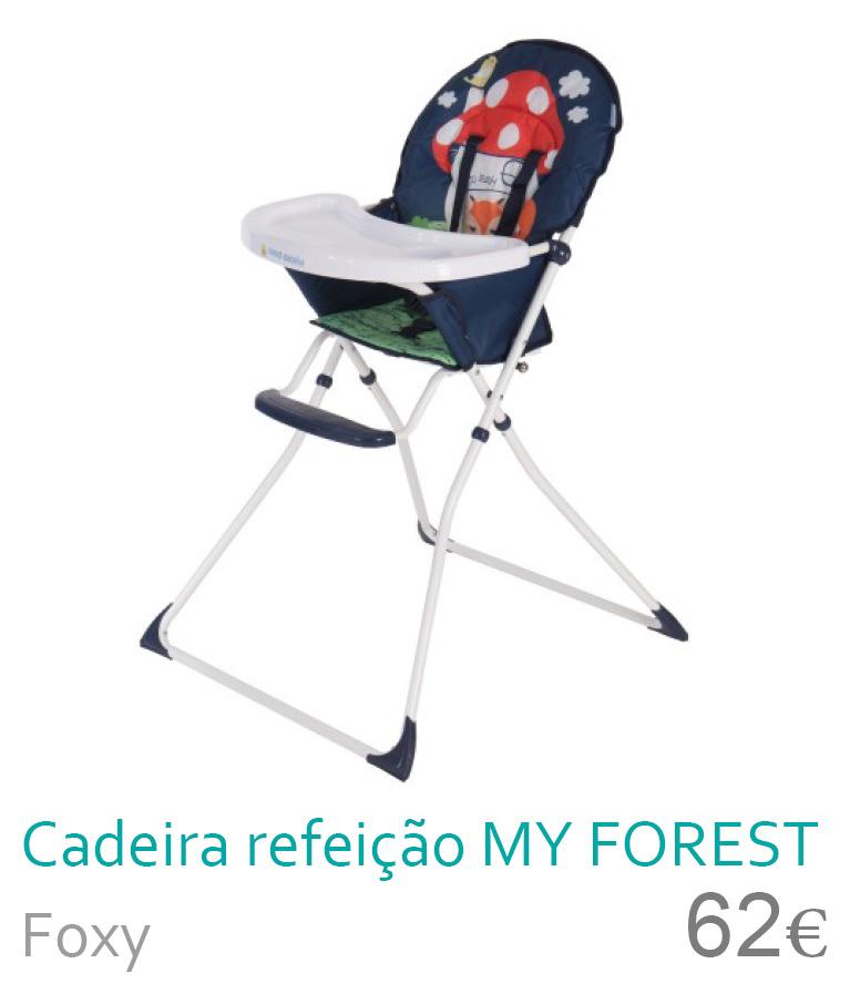 cadeira de refeição my forest foxy