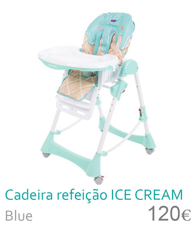 Cadeira de refeição ICE CREAM Blue