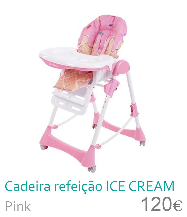 Cadeira refeição ICE CREAM Pink