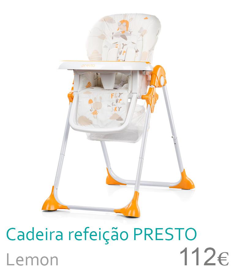cadeira de refeição presto lemon