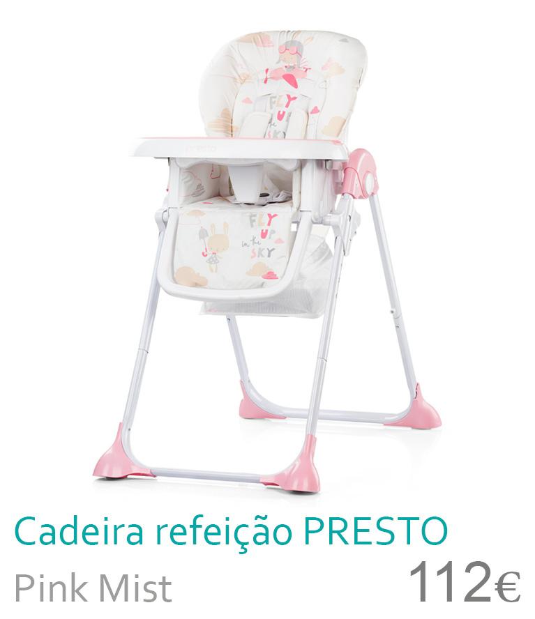 cadeira de refeição presto pink mist