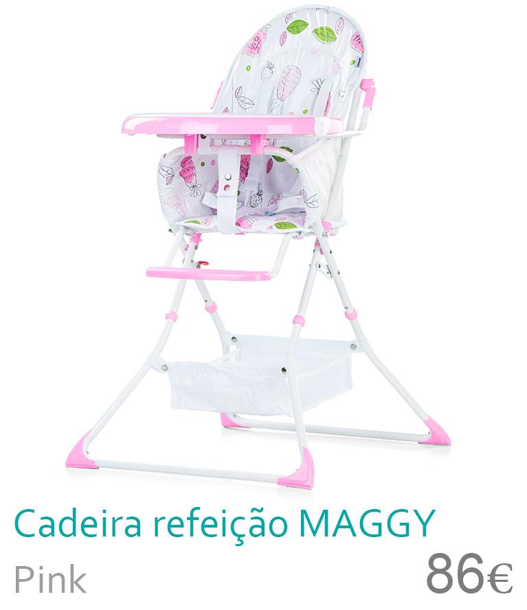 Cadeira de refeição MAGGY Pink