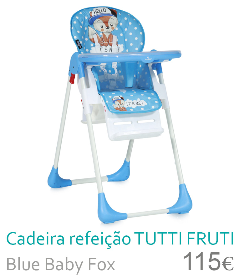 cadeira de refeição tutti frutti blue baby fox