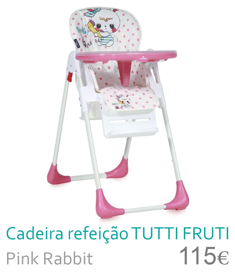 cadeira de refeição tutti frutti pink rabbit